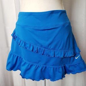 Nike Skort Tennis Golf Blue Ruffles Size XL